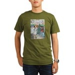 The Old Woman and Gerda Organic Men's T-Shirt (dar