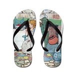 The Old Woman and Gerda Flip Flops