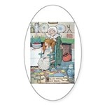 The Old Woman and Gerda Sticker (Oval 10 pk)