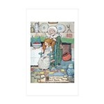 The Old Woman and Gerda Sticker (Rectangle 10 pk)