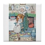 The Old Woman and Gerda Tile Coaster