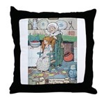 The Old Woman and Gerda Throw Pillow