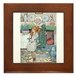 The Old Woman and Gerda Framed Tile