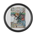 The Old Woman and Gerda Large Wall Clock