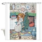 The Old Woman and Gerda Shower Curtain