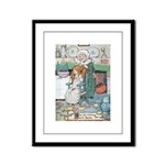 The Old Woman and Gerda Framed Panel Print