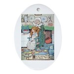 The Old Woman and Gerda Ornament (Oval)