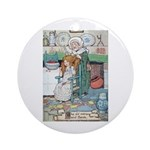 The Old Woman and Gerda Ornament (Round)