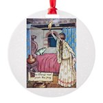 The Vikings Wife and the Frog Round Ornament