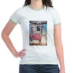 The Vikings Wife and the Frog Jr. Ringer T-Shirt