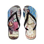 The Vikings Wife and the Frog Flip Flops