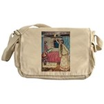 The Vikings Wife and the Frog Messenger Bag