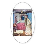 The Vikings Wife and the Frog Sticker (Oval 10 pk)