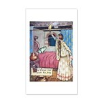 The Vikings Wife and the Frog 35x21 Wall Decal