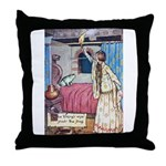 The Vikings Wife and the Frog Throw Pillow