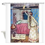 The Vikings Wife and the Frog Shower Curtain