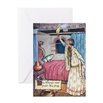 The Vikings Wife and the Frog Greeting Card