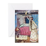 The Vikings Wife and the Frog Greeting Cards (Pk o