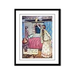The Vikings Wife and the Frog Framed Panel Print