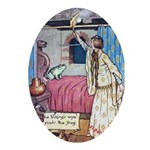 The Vikings Wife and the Frog Ornament (Oval)