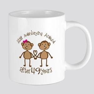 49th Anniversary Love Monkeys Mugs