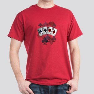 Four Aces and Suits Dark T-Shirt