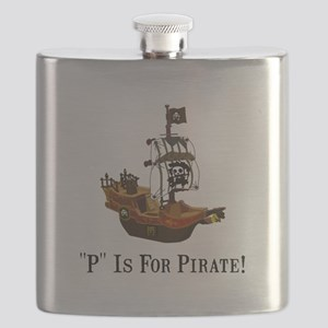 P Is For Pirate Black Only FBC Flask