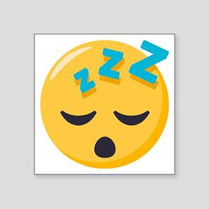 "Sleeping Emoji Square Sticker 3"" x 3"""