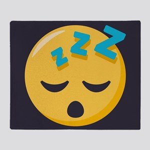 Sleeping Emoji Throw Blanket