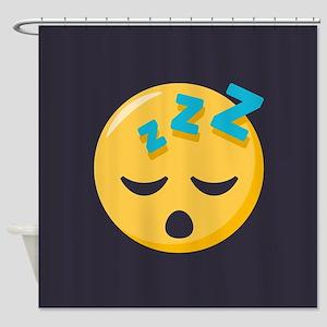 Sleeping Emoji Shower Curtain