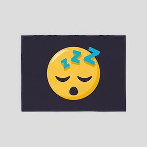 Sleeping Emoji 5'x7'Area Rug