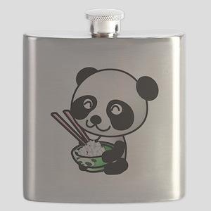 Panda Rice Black Flask