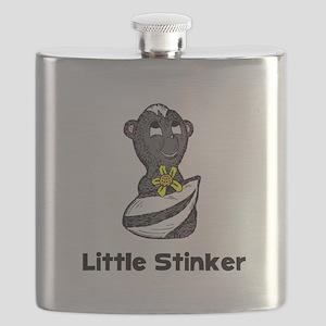 Little Stinker Skunk Black Flask