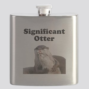 Significant Otter Black Flask
