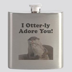 Otterly Adore Black Flask