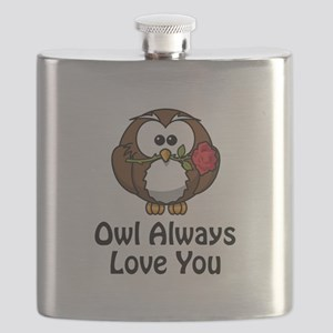 Owl Always Love You Black Flask