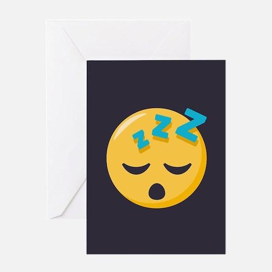 Sleeping Emoji Greeting Card