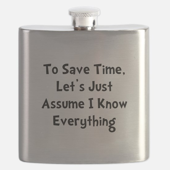 Know Everything Black.png Flask