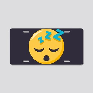 Sleeping Emoji Aluminum License Plate