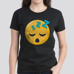 Sleeping Emoji Women's Dark T-Shirt