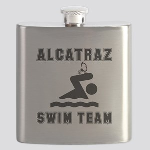 Alcatraz Swim Team Black Flask