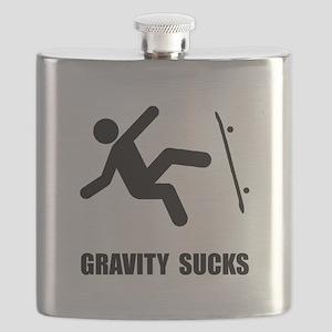 Skateboard Gravity Black Flask