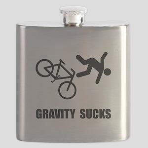 Gravity Sucks Bike Black Flask