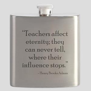 Teaching Eternity Black Flask