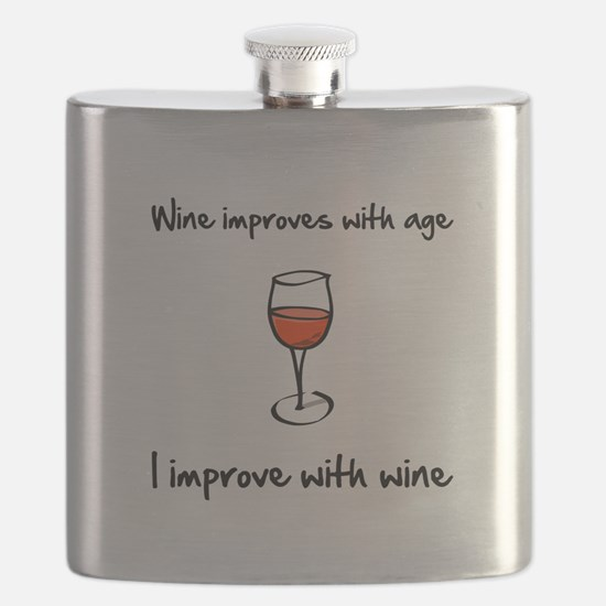 Wine Improves Black.png Flask