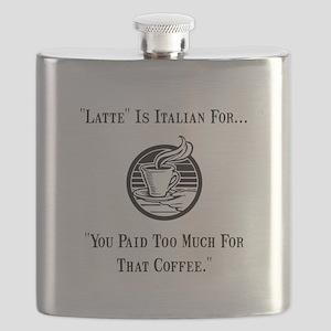 Latte Italian Coffee Black Flask