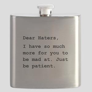 Dear Haters Black Flask