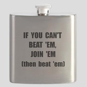 Beat Em Black Flask