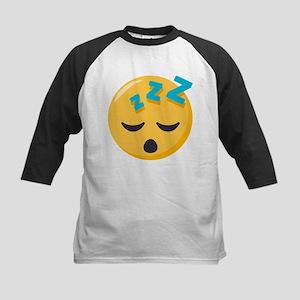 Sleeping Emoji Kids Baseball Tee