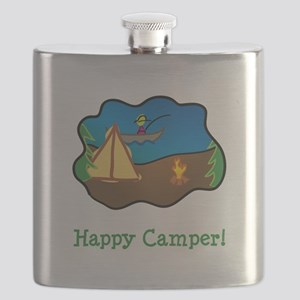 Happy Camper Green Flask